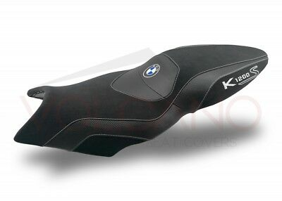 BMW K 1200s 04-08 / K 1300s 09-16 Volcano design Seat cover Anti Slip black Grey