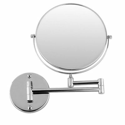 3X(Chrome Round Extending 8 inches cosmetic wall mounted make up mirror sha U5M4