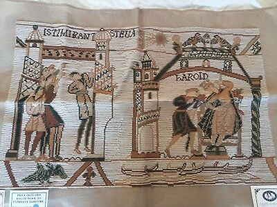 NEW QUEEN ADELAIDE Trammed TAPESTRY CANVAS & WOOL NORMAN CONQUEST OF ENGLAND
