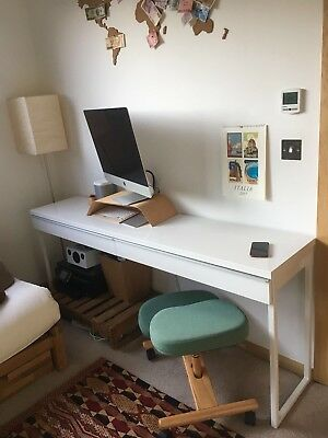 IKEA BESTA BURS Desk With Two Drawers