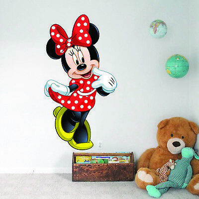 MINNIE MOUSE  Kids Boy Girls Decal Wall Art Sticker Gift Window New DISNEY