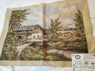 NEW QUEEN ADELAIDE Trammed TAPESTRY CANVAS & WOOL SCENERY N11