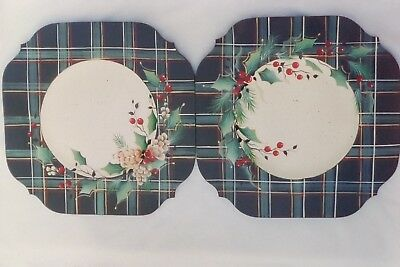 """Judy Diephouse/ Deptula tole pattern """"Holly,Berry,Pine & Pinecones Holiday Plate"""