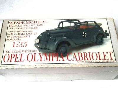 OPEL OLYMPIA CABRIOLET Wespe Modelle 1:35 SCALE - Harz-Kit 35017