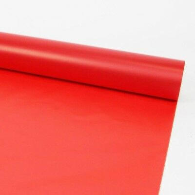 80cm FROSTED RED CELLOPHANE FILM Plain Coloured Flower Gift Hamper Wrap