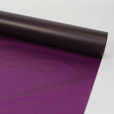 80cm FROSTED PURPLE CELLOPHANE FILM Plain Coloured Flower Gift Hamper Wrap