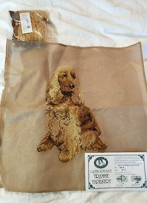 BRAND NEW QUEEN ADELAIDE Trammed TAPESTRY CANVAS & WOOL No. A414 Dog