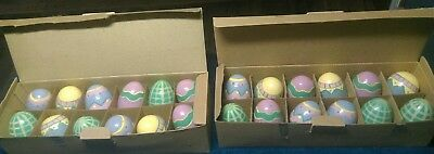 24 Wood Easter Eggs Lillian Vernon Handcrafted Hand Painted Unique Decorations