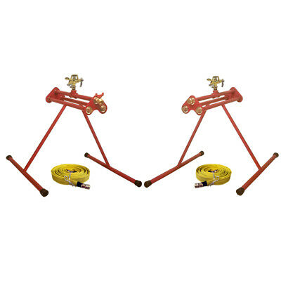 PACK OF 2 UNITS ESG-1/ESG-2 SPRINKLERS SYSTEM WITH 2x25' FIRE HOSES - BEST VALUE