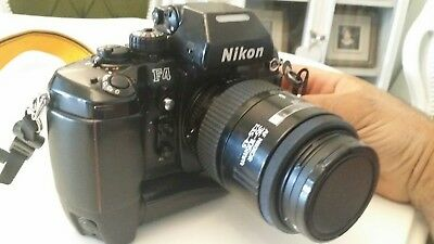 Nikon F4 with MB-21 booster and two lens