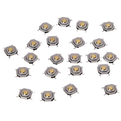 22pcs 4x4x1.5mm SMT SMD Momentary Tact Tactile Push Button Switch 4P R3R6