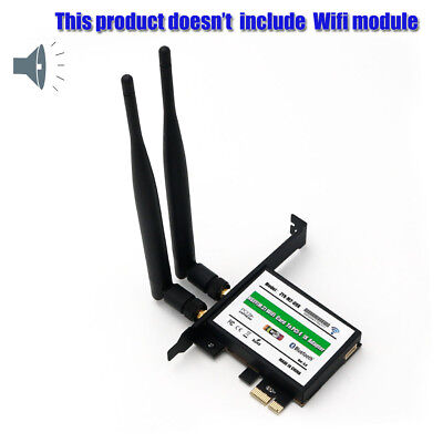Intel M.2(NGFF) 7260 8260 3160 WiFi Network Card to PCI-e 1X Adapter Converter