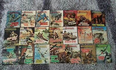 Job Lot of 21 Vintage / Old Commando, War Picture Library, Battle Library Comics