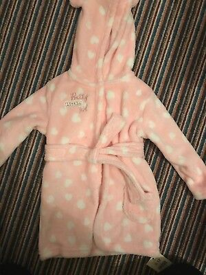 """""""Pretty Little Girl"""" Dressing Gown BNWT 9-12months From George"""