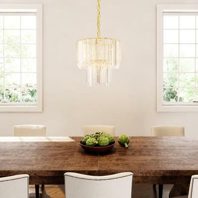 Bel Air L. Stewart 5-Light Polished Brass Chandelier w/Beveled Acrylic Crystal