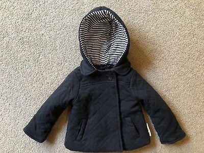 Calvin Klein Jeans Quilted Hooded Coat Unisex Sz:18 Months EUC