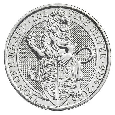 Queen's Beast Lion of England 2016 2 oz. .9999 Silver