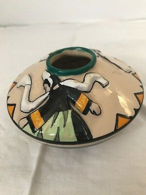 Pot Faience De Quimper Signé  J.e.sevellec  Henriot Art Deco Decor En Relief