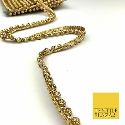 Light Gold Intricate Pearl Swag Trimming Border Ethnic Pankhi Scallop X309