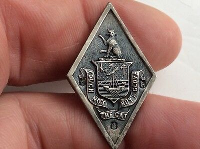 Solid silver Clan Macpherson Livery Button  1889 .20 Mm by 35 mm