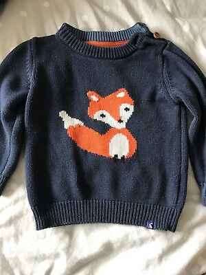 Baby Boys Joules Fox Jumper Top Age Size 18-24 Months 1 2 Years