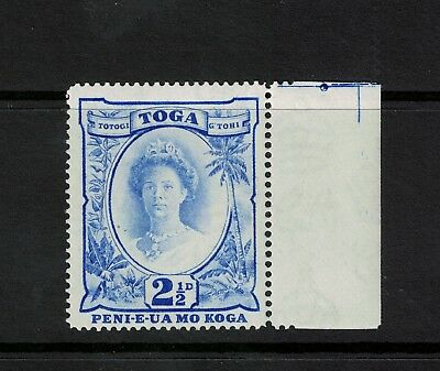 "Tonga 1942 21/2 Bright Ultramarine Recut ""21/2"" Variety S.G. 77a   Cat £35.00"