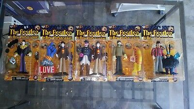 Mcfarlane Beatles 5 Figures John Paul George Ringo Yellow Submarine Rare Band As