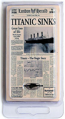 "Rms Titanic Coal Mini ""london Herald"" 100Th Anniv Edition W Coa - Authentic"