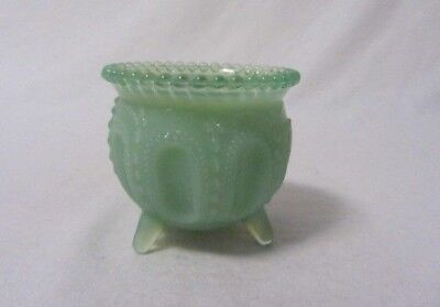 Boyd Glass Gypsy Pot Ice Green Toothpick Holder B In Diamond