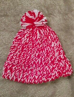 Hand knitted holiday beanie/hat NEW without tags!