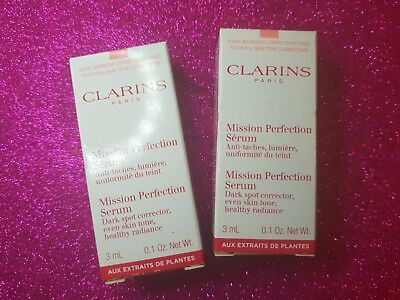 2 x Travel Size Clarins Mission Perfection Serum