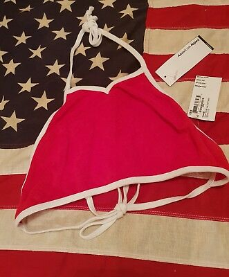 Brand New with Tags Red American Apparel Terry Halter Crop Tank XS/S
