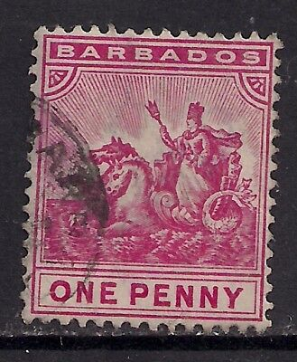 Barbados 1905 - 10 1d RED used stamp ( D184 )