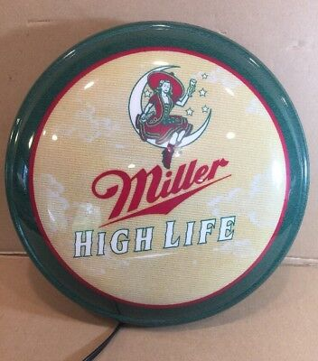VINTAGE MILLER HIGH LIFE BEER LIGHT. 1999. Man Cave. Bar Light.