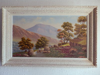 painting mountain Painting Provence solid Sainte Beaume Victoire ? berger sheep