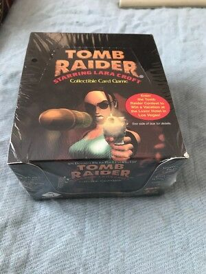 Tomb Raider CCG TCG Sealed Booster Display Box 48 Boosters Card Game