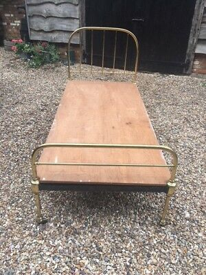 Victorian single bed with base
