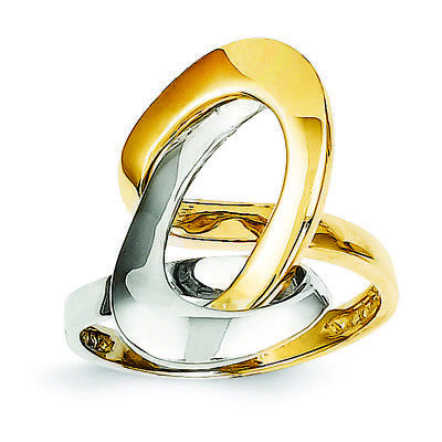14K Two-Tone Gold Swirl O Ring MSRP $820