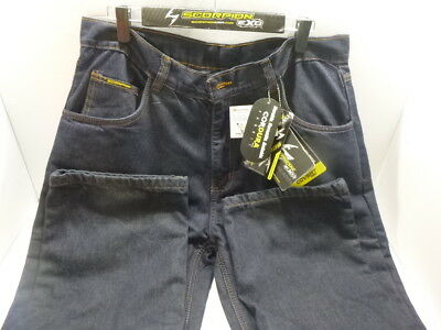 Scorpion Covert Pro Blue Denim Motorcycle Jeans Men's Size 34