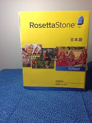 Rosetta Stone Learn JAPANESE Levels 1 2 & 3  Version 4  SOFTWARE PC & Mac
