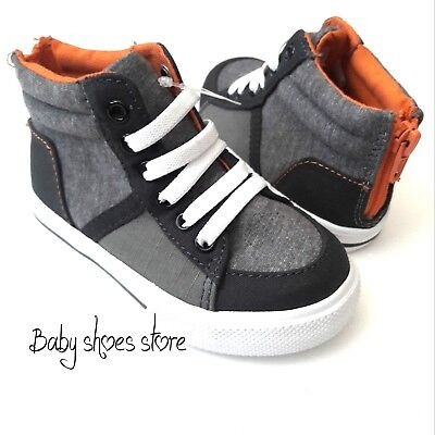 New Toddler Boys Girls Medium Top Sneakers Shoes Size 6