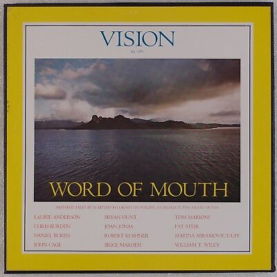 VISION: Word of Mouth 3x LP Spoken Word, Avantgarde, John Cage, Laurie Anderson