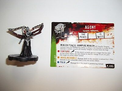 Wizkids - Horrorclix - The Lab - Agony #095 Unique Figure with card!