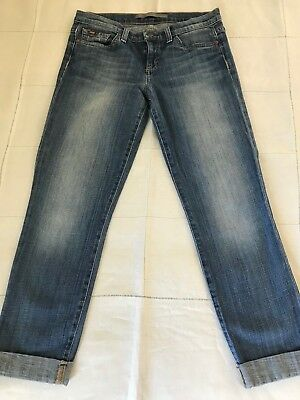 Joe's Jeans Cigarette Cropped Roll-Up 27 Faded Light Wash Low to Mid-Rise