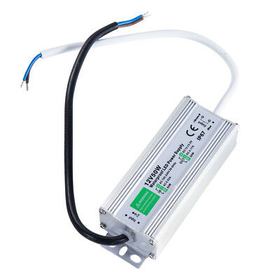 AC 110V DC 12V Outdoor Waterproof Power Supply Adapter LED Light Driver 50W US