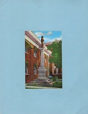 GULFPORT MS pc, Confederate monument & Court House, linen.
