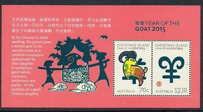 STAMPS AUSTRALIA  CHRISTMAS ISLAND  2015 Year of the GOAT  Ms.  (MNH) lot xx