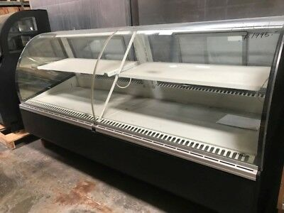 "Federal Industries SN8CD 96"" Curved Glass Refrigerated Deli Case - Free Shipping"