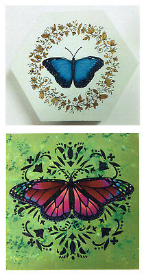 """Dorothy Whisenhunt tole painting pattern """"Colorful Butterflies"""""""