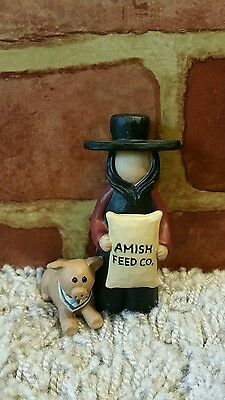 Blossom Bucket Amish Feed Co Man And Pig 1636